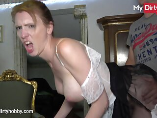 MyDirtyHobby - Housemaid swallows a cumshot immigrant her boss while his tie the knot is away