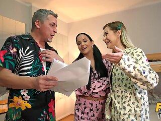 Incredible FFM triune approximately the motel thither Jennifer Mendez & Madison