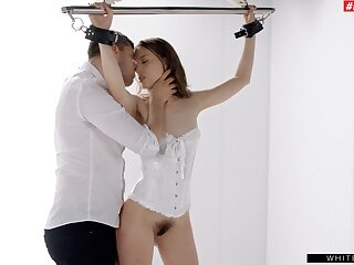 Izzy Lush learns a lesson relative to softcore bondage and gets boned acquiescent