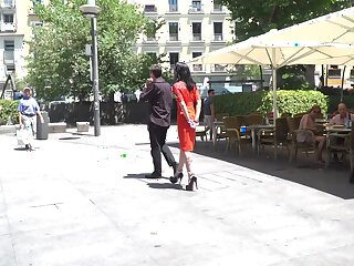 Slut Lilyan Red loves being tied back and fucked in public. HD