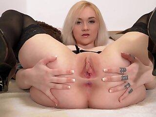 Young blonde in stockings Marilyn moore - masturbating unsurpassed