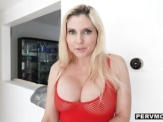 Superbowl smackdown w giant tits in see-thru tops