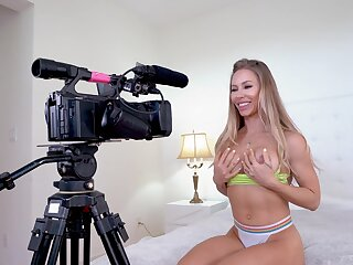 Blonde beauty reveals her lust for BBC during a filmed XXX get some shut-eye