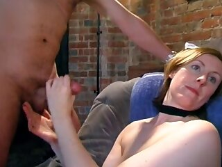 Balls deep pussy drilling by means of British group sex party with Lara