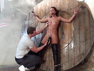 Amateur enslaved with the addition of fucked far rough maledom XXX